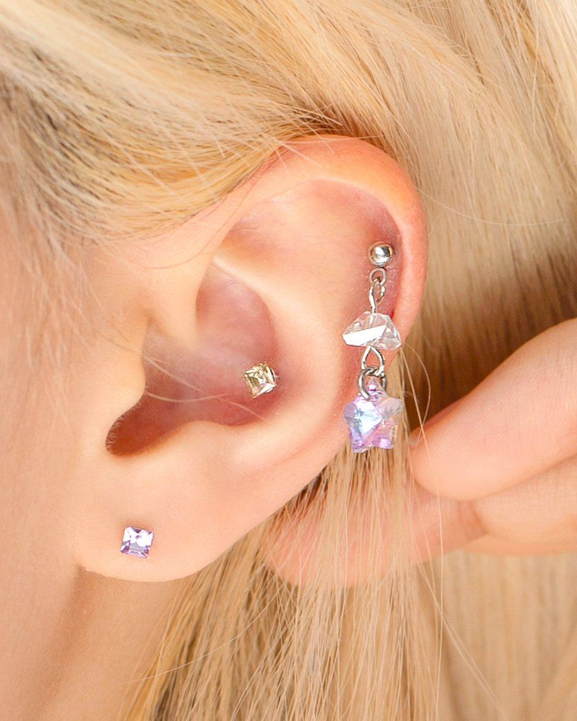 SHOOTING STAR JEWELRY PIERCING Piercing pink-rocket