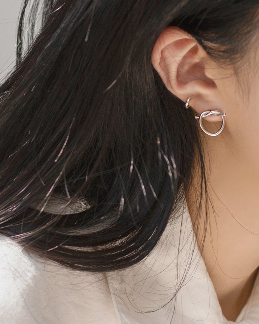 SOLID KNOTS EARRING Earrings pink-rocket