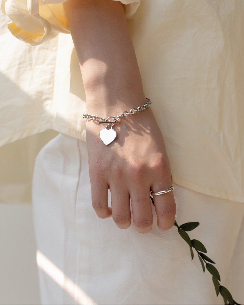 STEEL CHAIN TOGGLE BAR BRACELET Bracelet pink-rocket