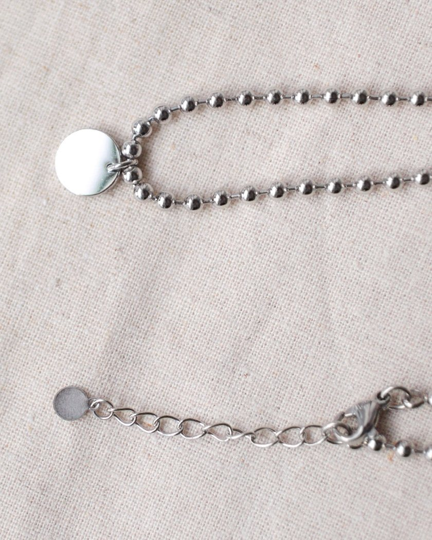 STEEL MINI BALL ICON PENDANT ANKLET anklet pink-rocket