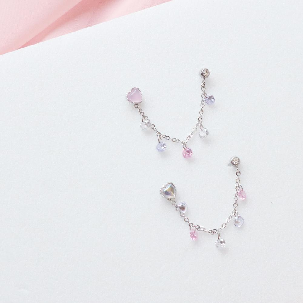 Sugar Two ring Piercing (2 color) Piercing bling moon