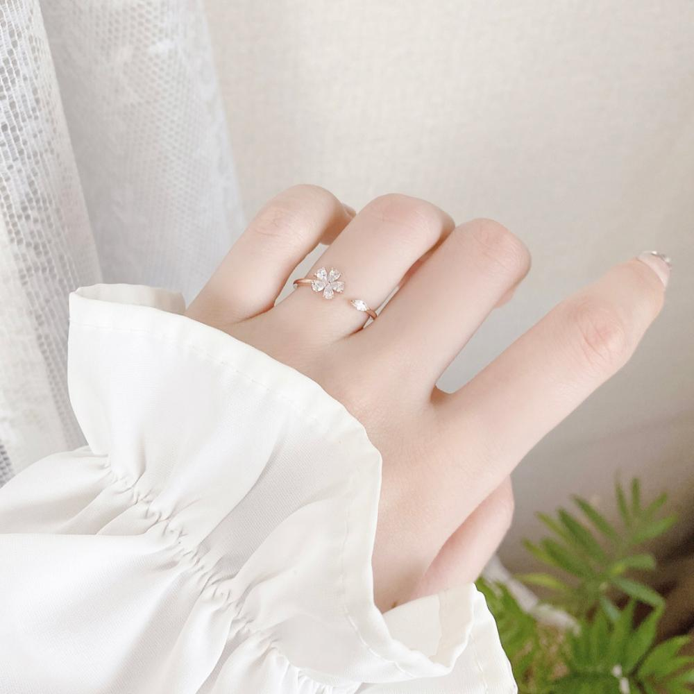 White Flower リング ring bling moon