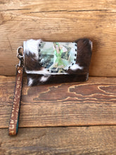 Load image into Gallery viewer, Hair on Cowhide Clutch Wallet with Patch