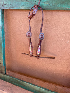 Cactus and Copper One Ear Headstall