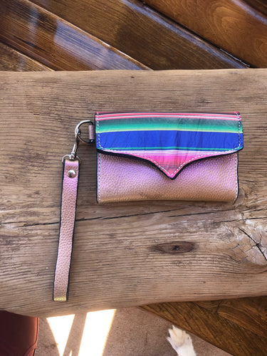 Pink Serape Clutch Wallet