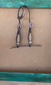 Leopard and Copper One Ear Headstall