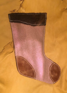 Sparkly Pink and Brown Stocking