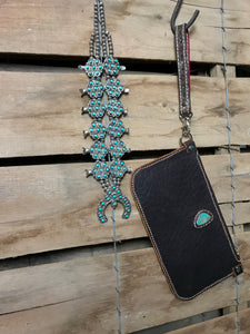Buffalo and Turquoise Simple Crossbody