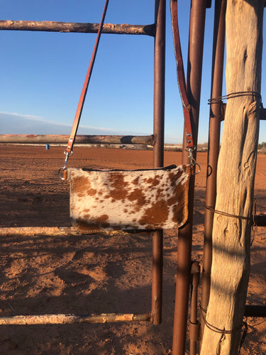 Simple Cowhide Crossbody
