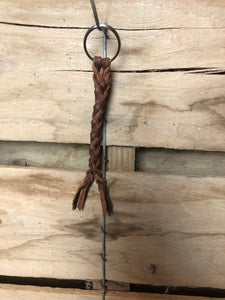 Braided Buffalo Keychain