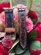 Load image into Gallery viewer, Southwest Horse and Cacti 38/40mm Apple Watch Band
