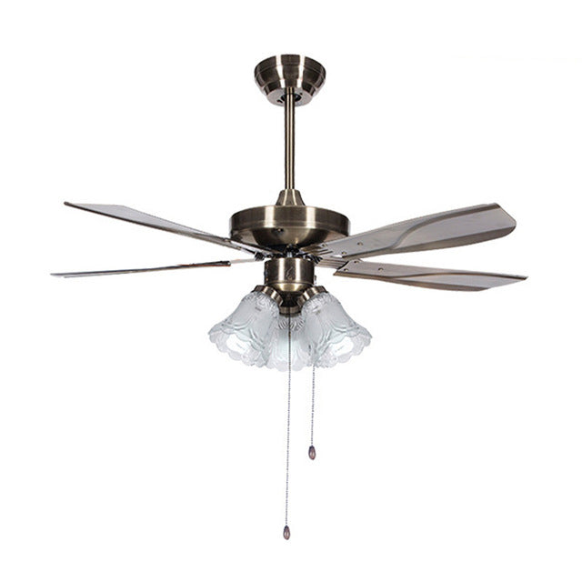 Lukloy Restaurant Ceiling Fan Pendant Light Invisible Living Room Lamp Justcozy Com