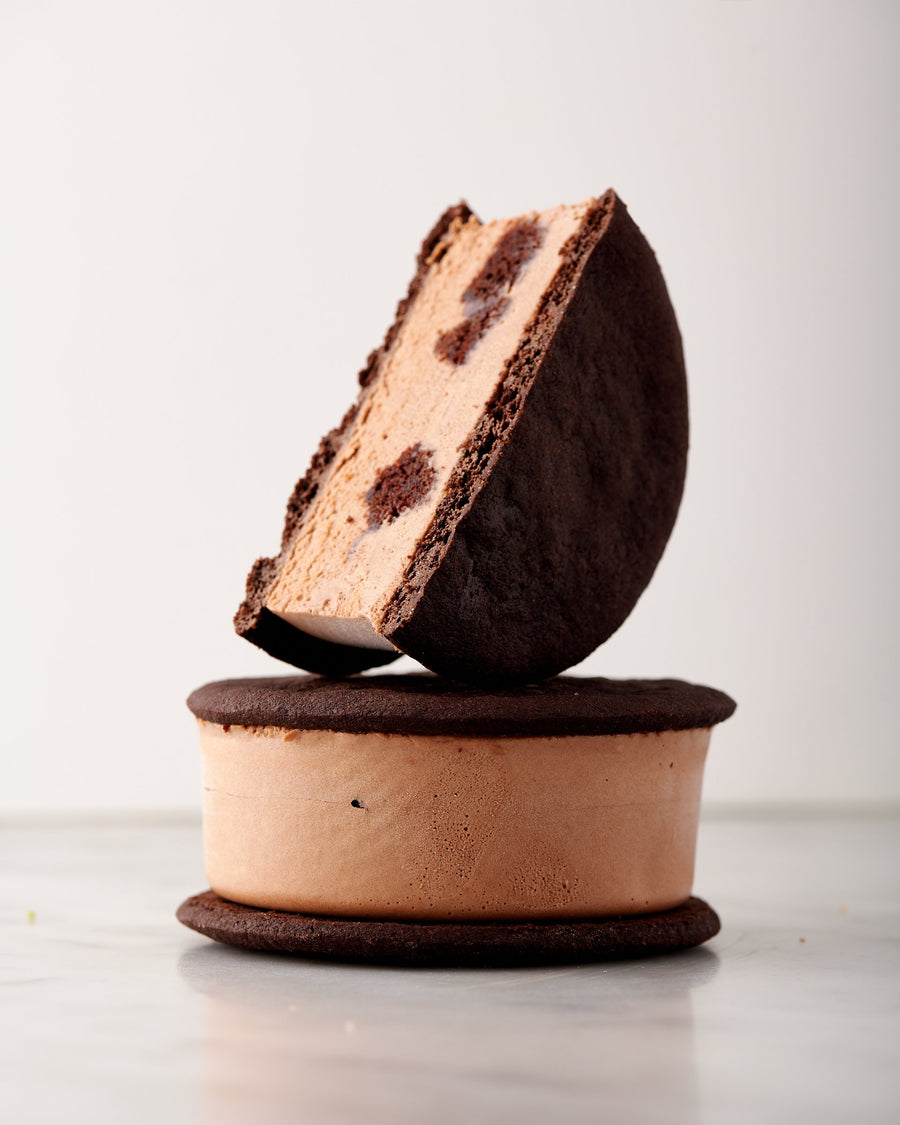 WS Fudge Brownie Ice Cream Sandwich
