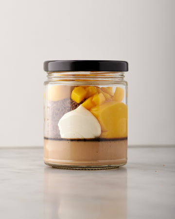 Mango Milk Tea-Ramisu Dessert Jar