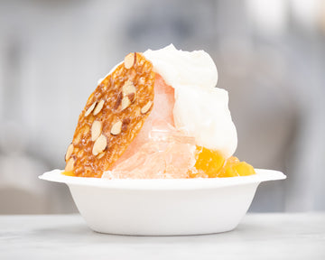 August 24th // Peach Bellini Sundae