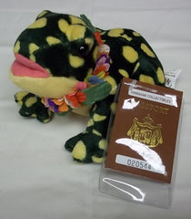 Hawaiian Collectibles Mele Pomaika'i the Bullfrog Plush Beanbag Animal -- Used