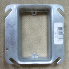 Steel City 52C15 Device Cover Ring 4in Square 1-Gang Raised 1in -- New