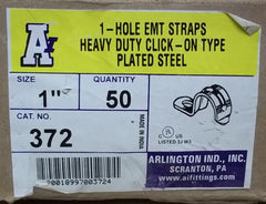 Arlington Industries 372 Conduit Straps 1in EMT Box of 53 -- New