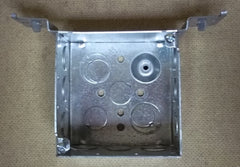 Outlet Box 4in Square with Bracket 2 1/4in Deep -- New