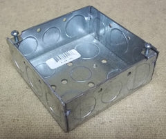 Bowers 4-SW-SPL Outlet Box 4in Square 1 1/2in Deep -- New