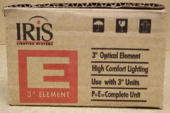 Iris E3MRB Downlight Optical Element 3in for MR16 Bulb Black -- New