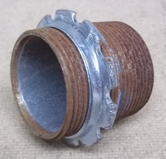 Conduit 1 1/2in x 1 3/4in Threaded with Lock Nut -- Used