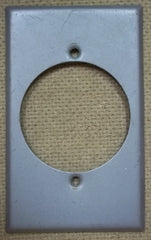 Switch Box Wall Plate with Round Hole -- Used