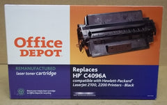 Office Depot Toner Cartridge Black Replaces HP C4096A -- New