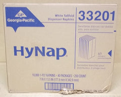 Georgia Pacific HYNAP Tall Fold Dispenser Napkins White Carton of 10000 33201 * Paper  -- New