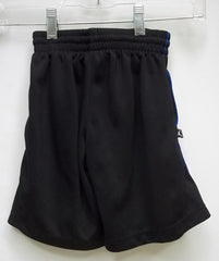 Haddad Apparel Shorts Polyester Male Kids 5T Black/Blue Solid w/ Stripes 05-012Q -- Used