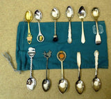Eclectic Collection of Miniature Spoons From Around The World Qty 11 -- Used