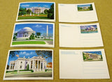 USPS Scott UX143 UX144 UX151 15c Postal Cards Lot of 50 Washington DC -- New