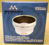 Merkury Optics CL-37WS 37mm High Definition 0.45x Wide Angle Lens -- New
