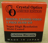 Crystal Optics V0300-30 Digital Camera/Video 3 Piece Filter Kit -- New