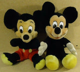 Disney Mickey Mouse Stuffed Dolls 14in Quantity 2 Multicolor -- Used