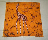 "Giraffe Art on Cloth 12""x12"""