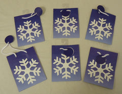 Best Buy Jeanmarie Holiday Gift Bag Snowflake 5 3/4in x 4 1/2in x 2 1/2in Qty 6 -- New
