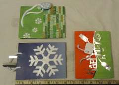 Best Buy Jeanmarie Mini Christmas Gift Bags 5 3/4in x 4 1/2in x 2in Qty 6 -- New