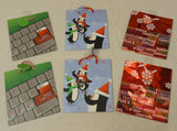 Christmas Gift Bags 7in x 6in x 3in Qty 6 -- New