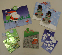 Christmas Gift Bags Qty 8 see description 5 Styles 4 Sizes  -- New