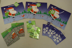 Christmas Gift Bags 3 Sizes 4 Styles Qty 10 -- New