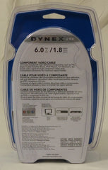 Dynex DX-AV021 Component Video Cable 6ft Plastic Metal -- New