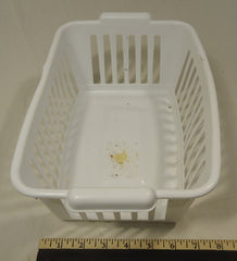 Epic Small White Basket 12in x 8in x 5in Plastic -- Used
