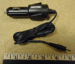 Rayovac Car Adapter Power Plug 1/8in x 1/8in x 3/8in Black Plastic Metal  -- New