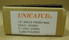 Unicatch UDA21 15* Angle Finish Nail 2in Qty 2000 Metal  -- New