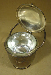 Container with Attached Lid 13in x 7in x 7 Metal  -- Used