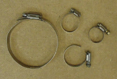 Breeze Torque Hose Clamp Various Sizes Qty 4 Metal  -- Used