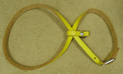 Wilson Pet Harness Adjustable 30in x 1/2in Yellow Leather Metal  -- Used
