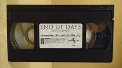 Universal End Of Days VHS Movie  * Plastic * -- Used