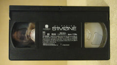New Line S1m0ne VHS Movie  * Plastic * -- Used